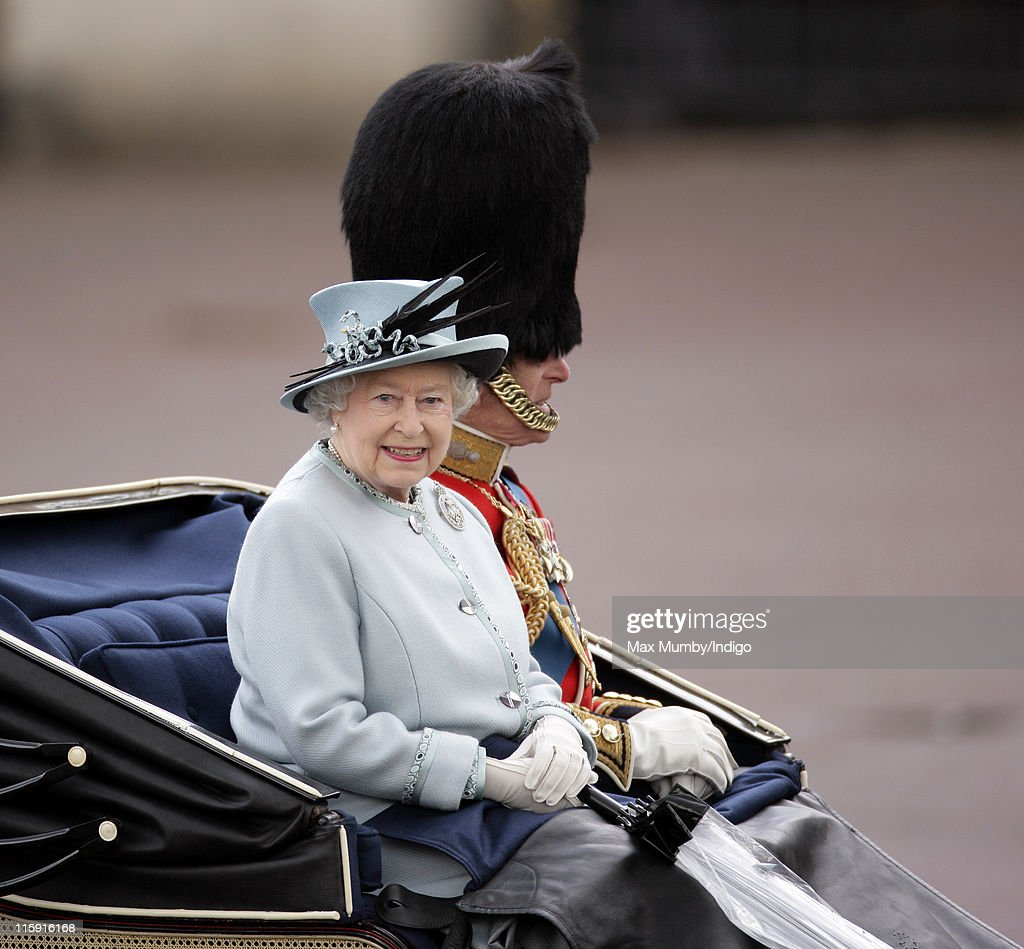 Queen Elizabeth II and Prince Philip, Duke of Edinburgh travel down The Mall in a horse drawn carriage as they attend the Trooping the Colour parade on June 11, 2011 in London, England. The ceremony of Trooping the Colour is believed to have first been performed during the reign of King Charles II. In 1748, it was decided that the parade would be used to mark the official birthday of the Sovereign. More than 600 guardsmen and cavalry make up the parade, a celebration of the Sovereign's official birthday, although the Queen's actual birthday is on 21 April.