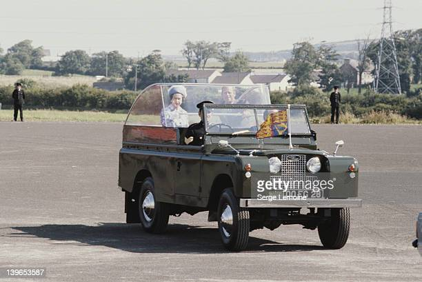 Queen Elizabeth II and Prince Philip during their visit to Ulster in Northern Ireland 1977
