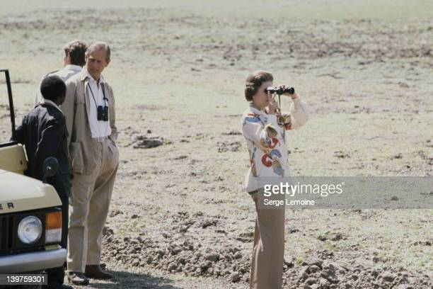 Queen Elizabeth II and Prince Philip on safari during their state visit to Zambia 1979