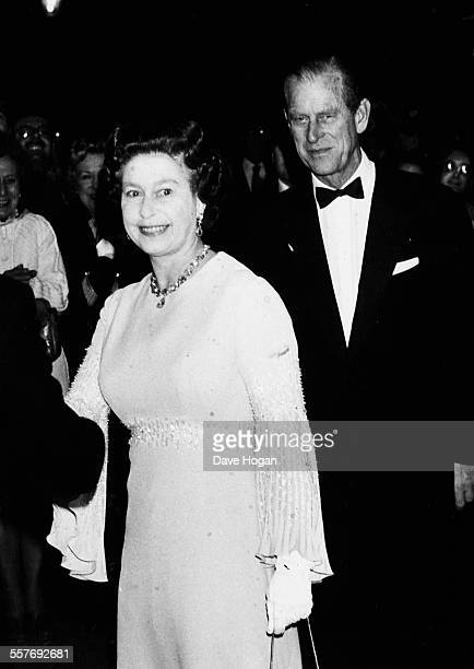 HM Queen Elizabeth II and Prince Philip the Duke of Edinburgh attending a gala concert in aid of the RSPB at the Royal Albert Hall London December...