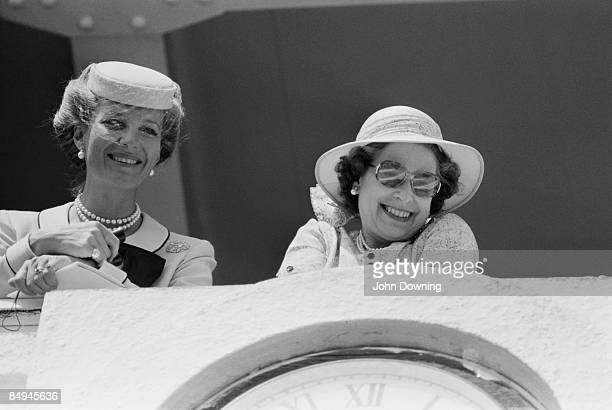 Queen Elizabeth II and Princess Michael of Kent enjoying a spectacle 5th June 1980
