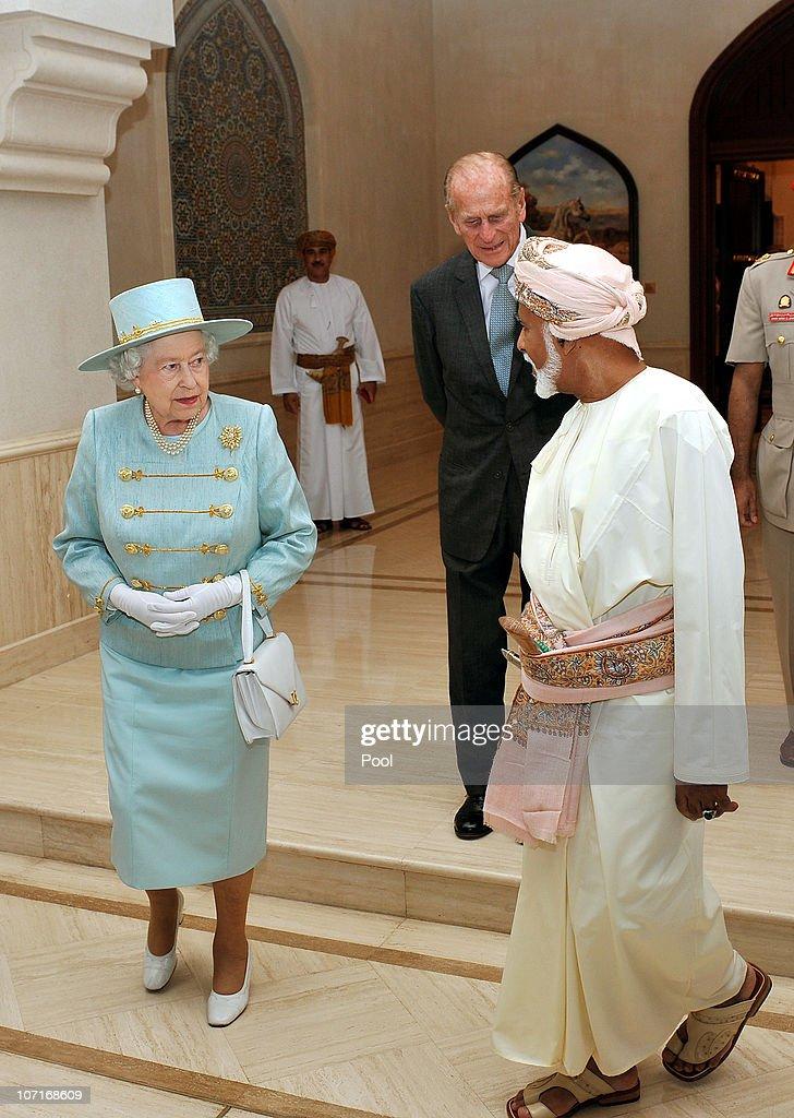 Queen Elizabeth II And Prince Philip Visit Oman - Day 2