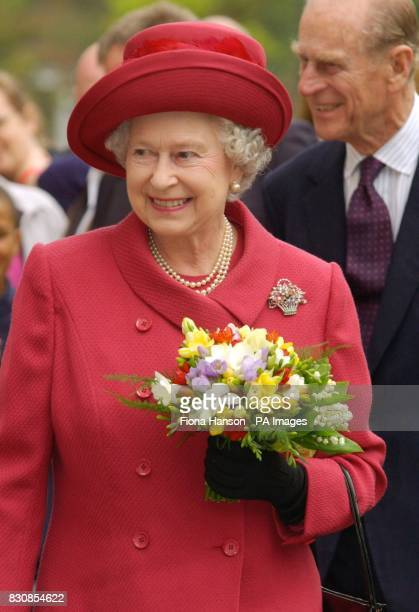 Queen Elizabeth II and The Duke of Edinburgh at Berkshire Golden Youth a joint county schools event celebrating the Jubilee at Bisham Abbey National...