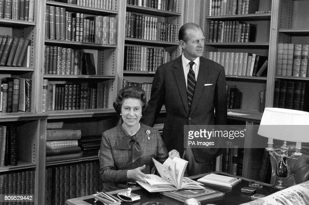 Queen Elizabeth II and the Duke of Edinburgh during their traditional summer break at Balmoral Castle