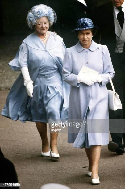 Queen Elizabeth II and the Queen Mother at Ascot June 1982