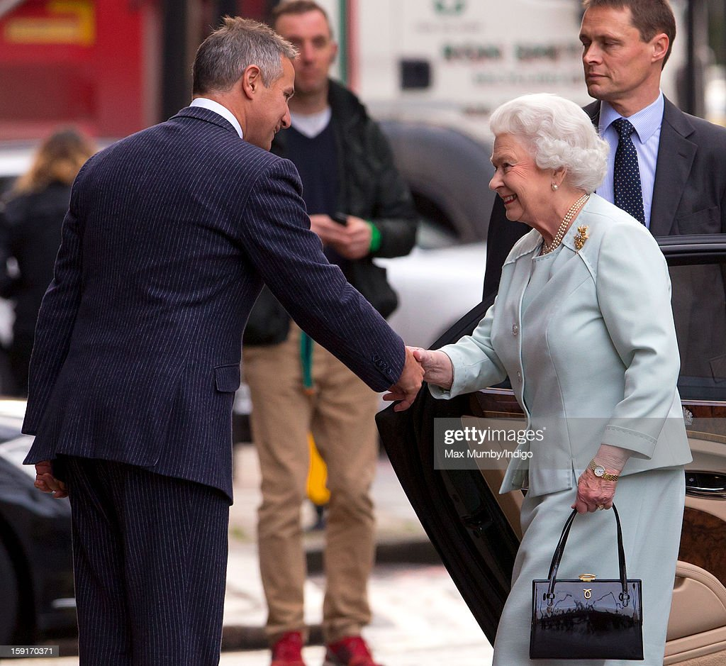 Queen <a gi-track='captionPersonalityLinkClicked' href=/galleries/search?phrase=Elizabeth+II&family=editorial&specificpeople=67226 ng-click='$event.stopPropagation()'>Elizabeth II</a> arrives at the Goring Hotel to attend a Christmas Lunch for her close members of staff on December 03, 2012 in London, England.