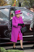 Queen Elizabeth II arrives at the joint casualty and compassionate centre within Imjin barracks on November 5 2015 in Innsworth Gloucestershire...