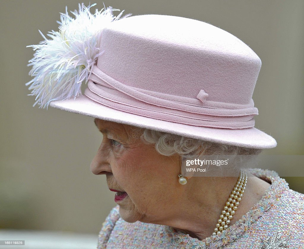 Queen Elizabeth II arrives for the Easter service at St George's Chapel in the grounds of Windsor Castle on March 31, 2013 in Windsor, England.