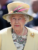Queen Elizabeth II arrives for the Investec Derby festival at Epsom Racecourse on June 6 2015 in Epsom England