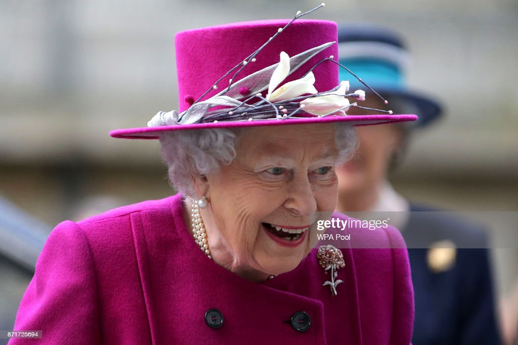 Queen Elizabeth II arrives for the reopening The Sir Joseph Hotung Gallery at The British Museum on November 8, 2017 in London, England.