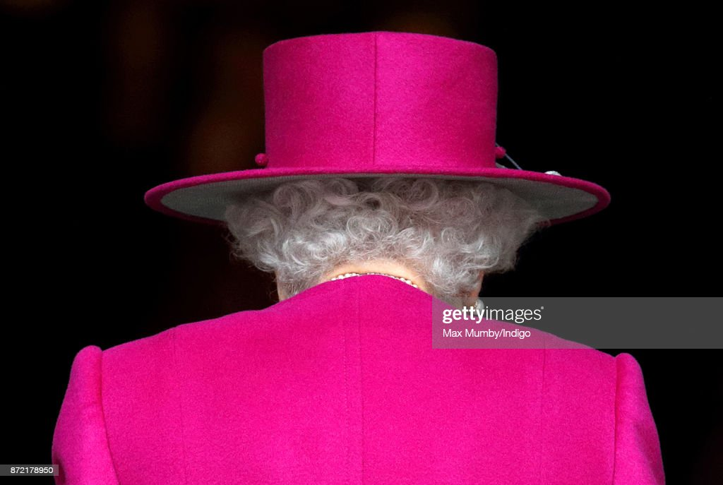 Queen Elizabeth II arrives to reopen the Sir Joseph Hotung Gallery at the British Museum on November 8, 2017 in London, England.