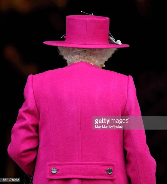 Queen Elizabeth II arrives to reopen the Sir Joseph Hotung Gallery at the British Museum on November 8 2017 in London England