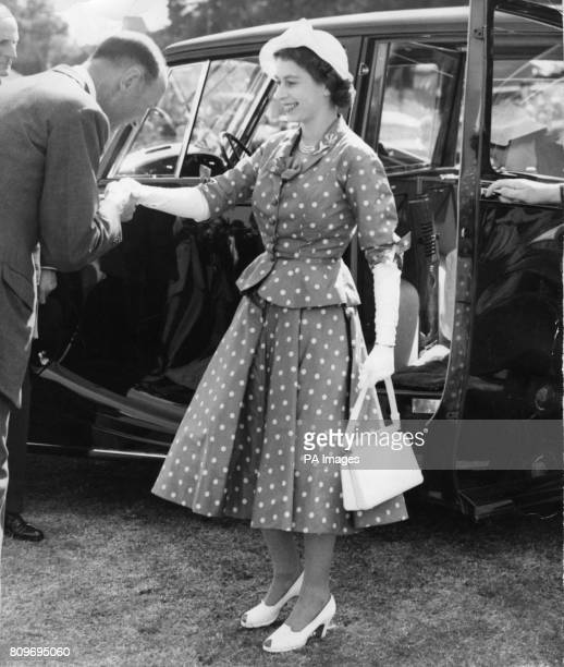 Queen Elizabeth II Arriving For The First Day Of Royal Windsor Horse Show In