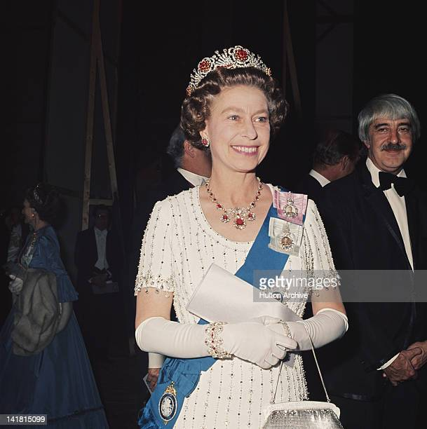 Queen Elizabeth II at a Royal Gala performance at Covent Garden during her Silver Jubilee celebrations 30th May 1977