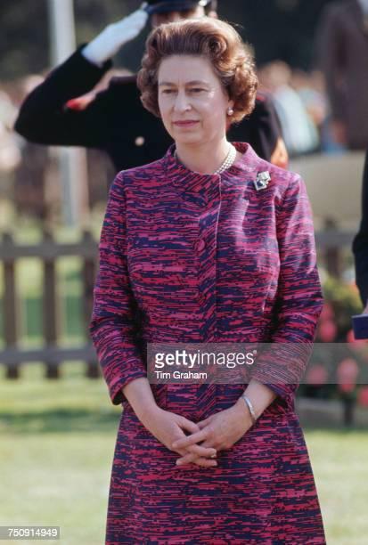 Queen Elizabeth II at Guards Polo Club in Windsor Great Park circa 1978