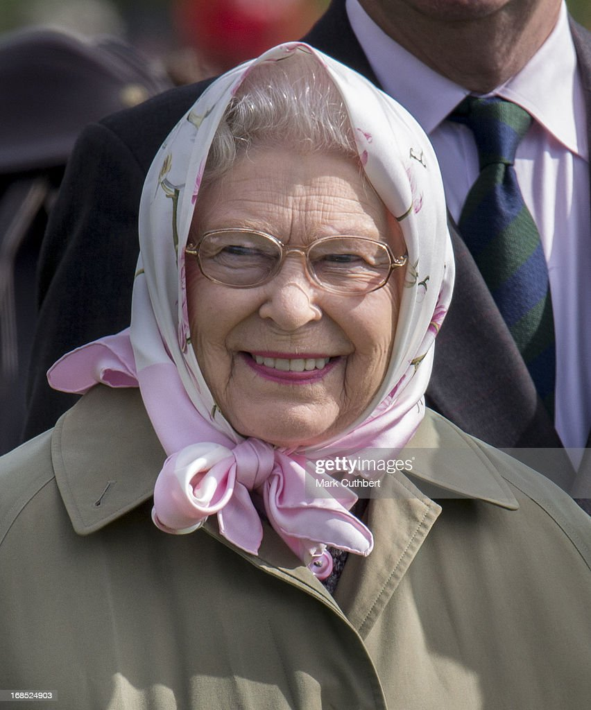 Queen Elizabeth II at The Royal Windsor Horse Show on May 10, 2013 in Windsor, England.