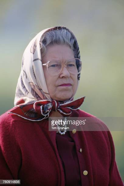 Queen Elizabeth II at the Royal Windsor Horse Show Windsor Great Park 13th May 1994