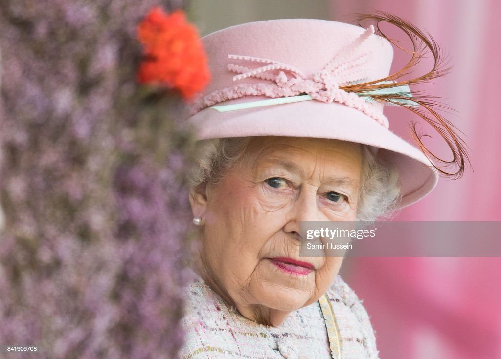Queen Elizabeth II attend the 2017 Braemar Highland Gathering at The Princess Royal and Duke of Fife Memorial Park on September 2, 2017 in Braemar, Scotland.