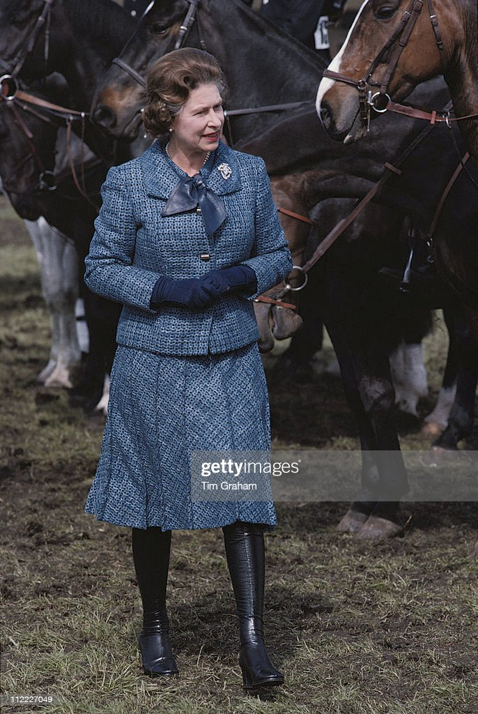 Queen Elizabeth II Attending The Royal Windsor Horse Show Held At Home Park In