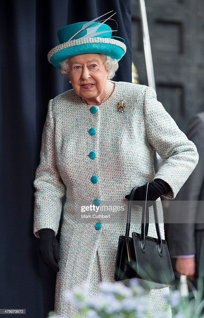 Queen Elizabeth II attends a ceremonial welcome at Lancaster Castle on May 29, 2015 in Lancaster, England.