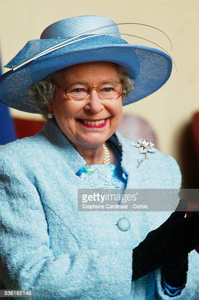 Queen Elizabeth II attends a display at the 'Cadre Noir' National Equestrian School The Queen is in France for a threeday state visit to mark the...