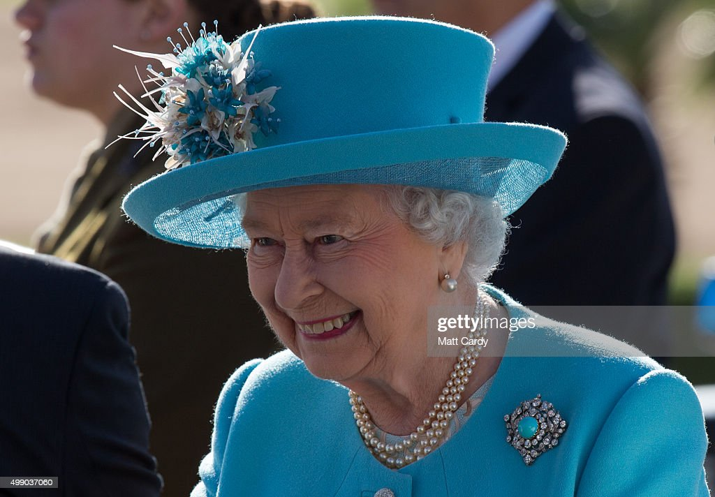 Queen Elizabeth II attends a prize giving ceremony on a visit to Malta Racing Club at Marsa racecourse on November 28, 2015 near Valletta, Malta. Queen Elizabeth II, The Duke of Edinburgh, Prince Charles, Prince of Wales and Camilla, Duchess of Cornwall are on their final day of a visit to the island that has been hosting the Commonwealth Heads of State Summit.