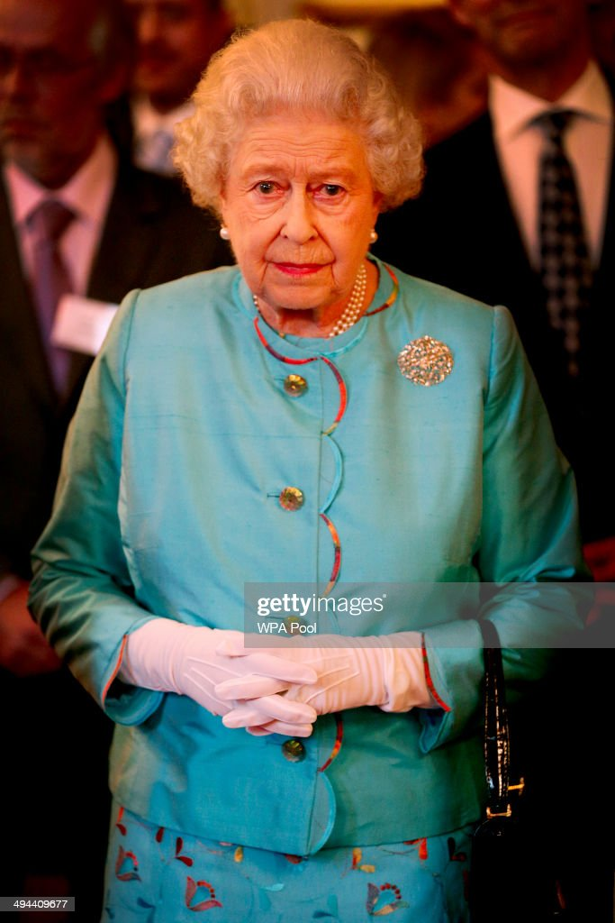 Queen Elizabeth II attends a reception for Leonard Cheshire Disability in the State Rooms, St James's Palace on May 29, 2014 in London, England.