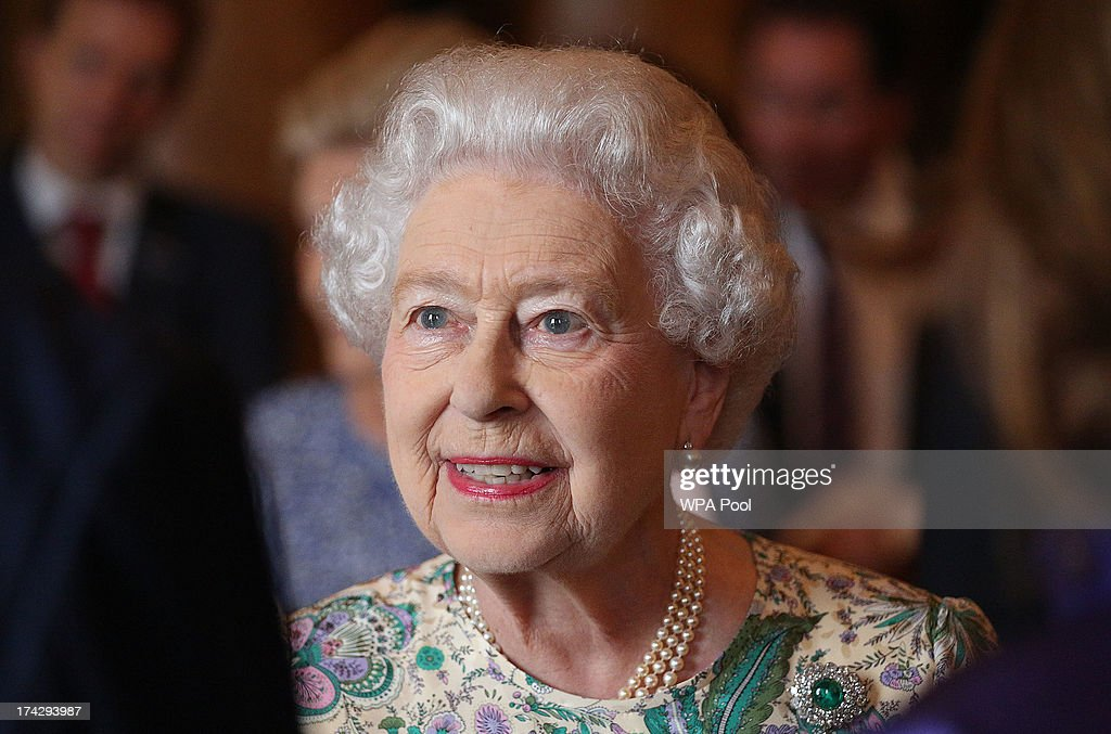 Queen <a gi-track='captionPersonalityLinkClicked' href=/galleries/search?phrase=Elizabeth+II&family=editorial&specificpeople=67226 ng-click='$event.stopPropagation()'>Elizabeth II</a> attends a reception for the Winners of the Queens Award for Enterprise 2013 at Buckingham Palace in London. Tuesday July 23, 2013.