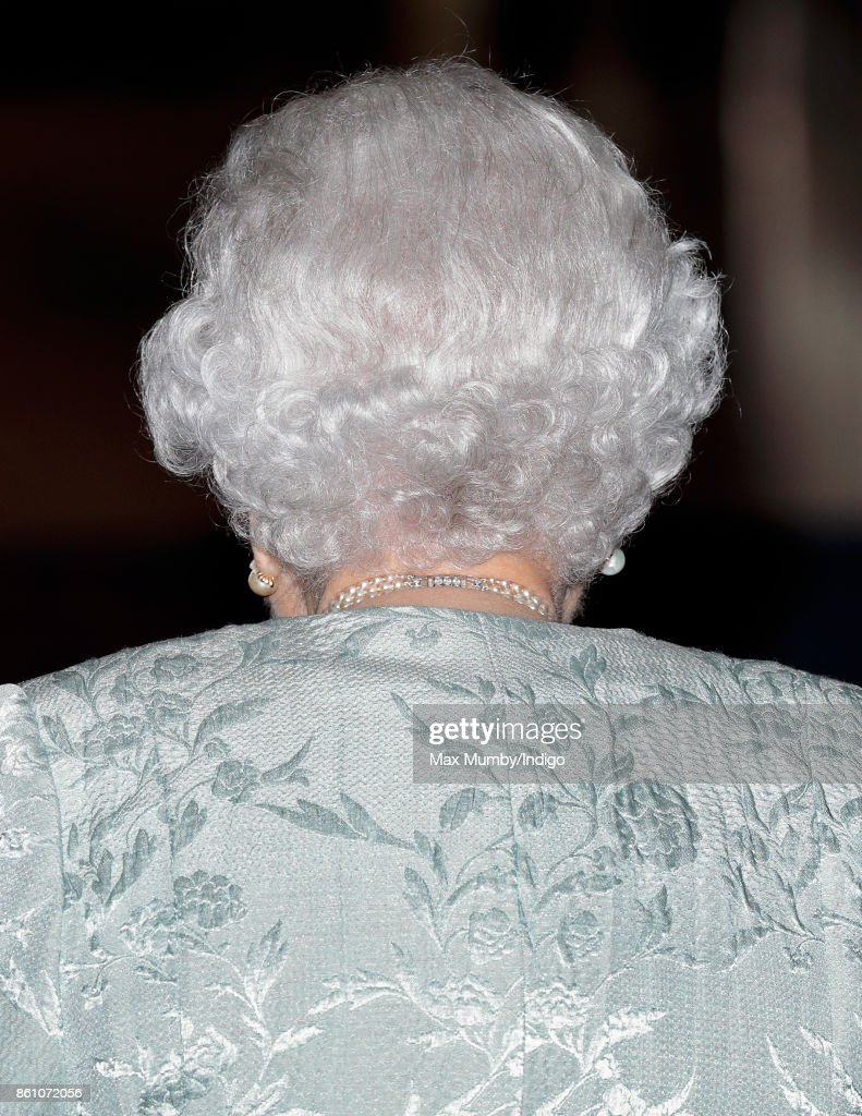 Queen Elizabeth II attends a reception to mark the Centenary of the Women's Royal Navy Service and the Women's Auxiliary Army Corp at The Army & Navy Club on October 12, 2017 in London, England.