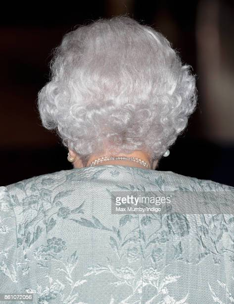 Queen Elizabeth II attends a reception to mark the Centenary of the Women's Royal Navy Service and the Women's Auxiliary Army Corp at The Army Navy...
