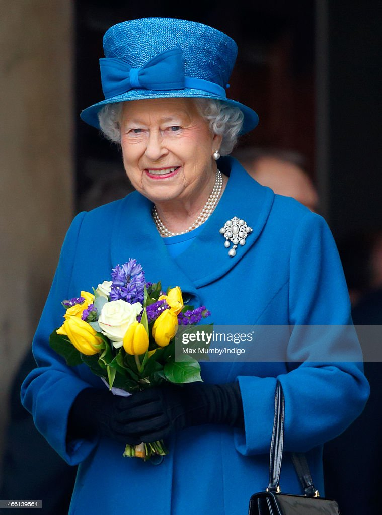 Queen Elizabeth II attends a Service of Commemoration to mark the end of combat operations in Afghanistan at St Paul's Cathedral on March 13, 2015 in London, England.