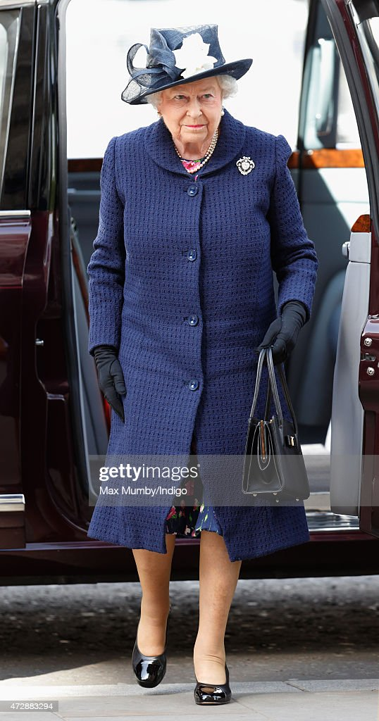 Queen Elizabeth II attends a Service of Thanksgiving to mark the 70th Anniversary of VE Day at Westminster Abbey on May 10, 2015 in London, England.