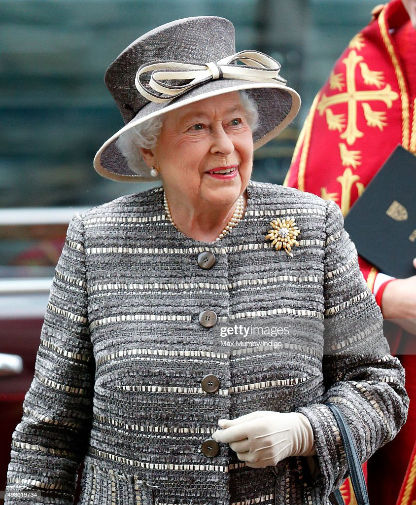 Queen Elizabeth II attends a service to mark the Inauguration of the Tenth General Synod of the Church of England at Westminster Abbey on November 24, 2015 in London, England.