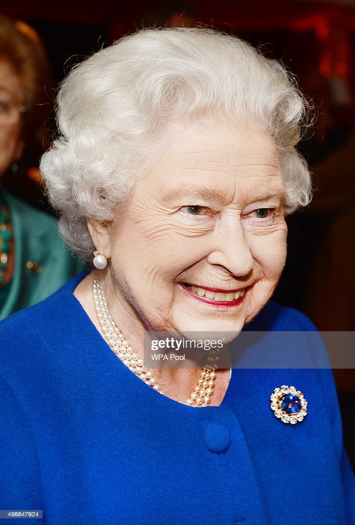 Queen Elizabeth II attends an evening reception held in the grounds of the San Anton Palace on November 26, 2015 in Attard, Malta.