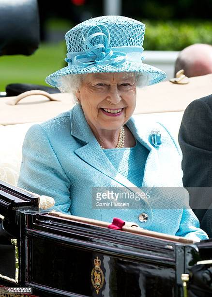 Queen Elizabeth II attends day 1 of Royal Ascot 2012 at Ascot Racecourse on June 19 2012 in Ascot United Kingdom