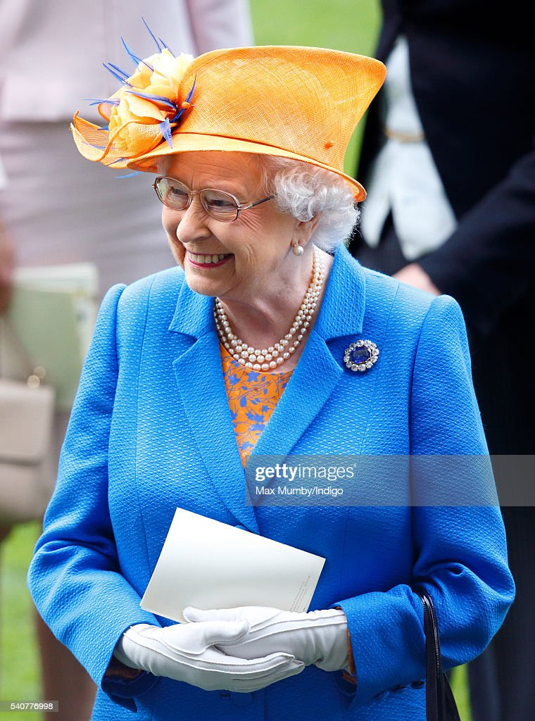 Queen Elizabeth II attends day 3 'Ladies Day' of Royal Ascot at Ascot Racecourse on June 16, 2016 in Ascot, England.