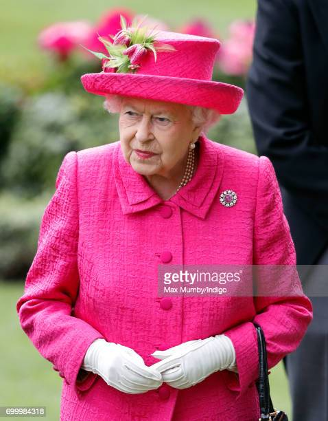 Queen Elizabeth II attends day 3 Ladies Day of Royal Ascot at Ascot Racecourse on June 22 2017 in Ascot England