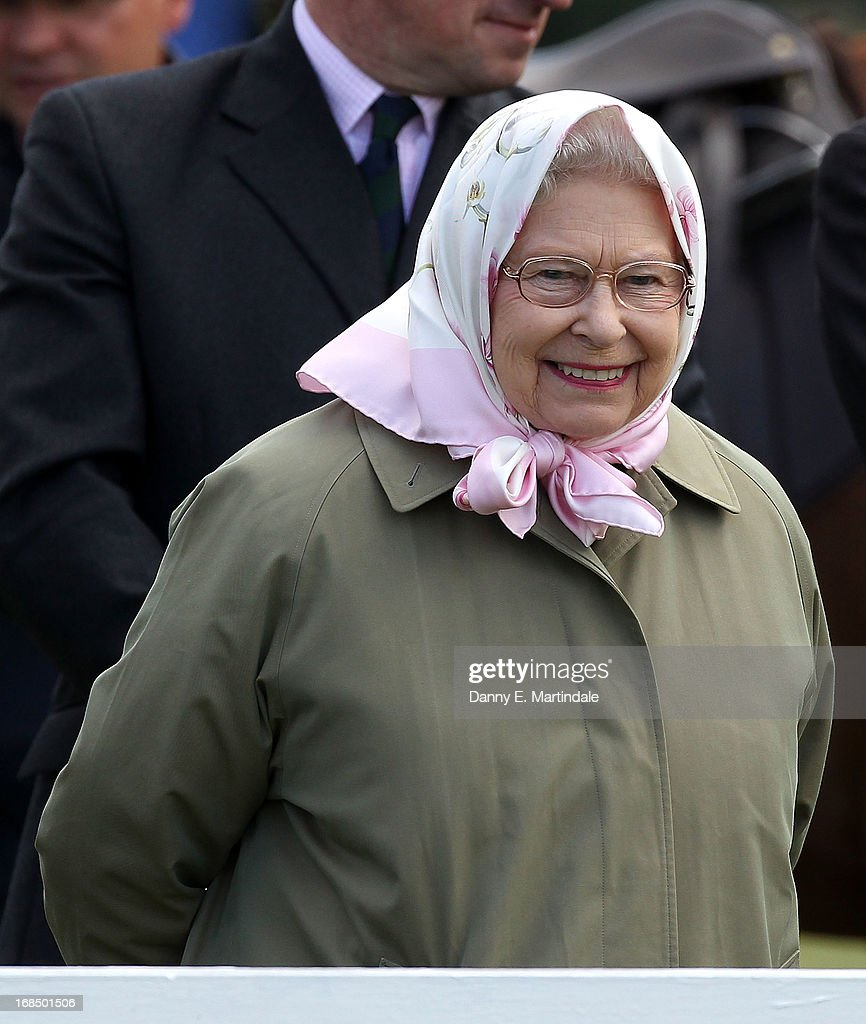 Queen Elizabeth II attends day 3 of the Royal Windsor Horse Show on May 10, 2013 in Windsor, England.