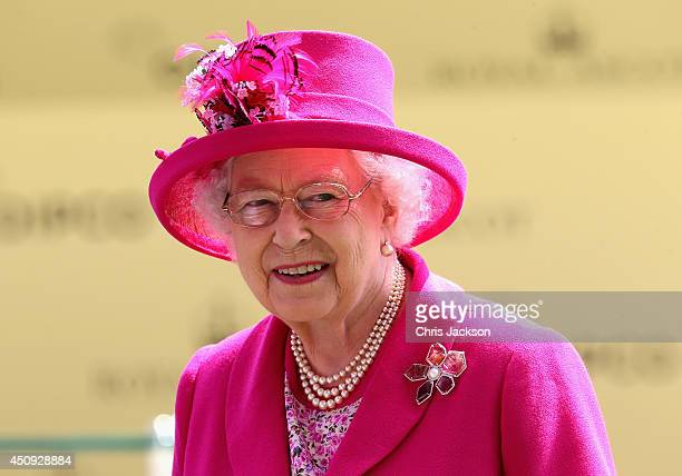 Queen Elizabeth II attends day four of Royal Ascot 2014 at Ascot Racecourse on June 20 2014 in Ascot England