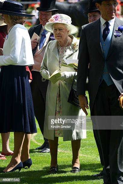 Queen Elizabeth II attends day two of Royal Ascot at Ascot Racecourse on June 18 2014 in Ascot England