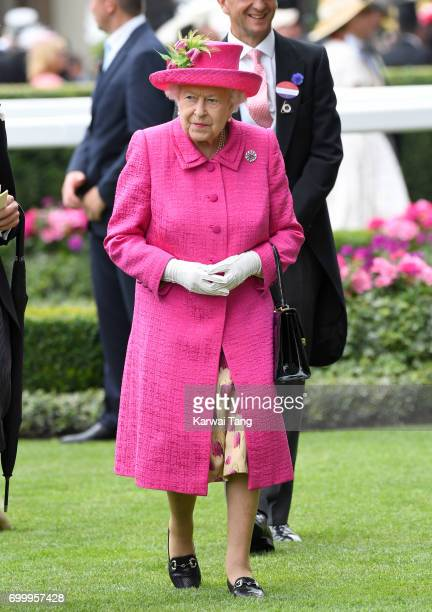 Queen Elizabeth II attends Ladies Day of Royal Ascot 2017 at Ascot Racecourse on June 22 2017 in Ascot England