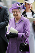 Queen Elizabeth II attends Ladies' Day on day three of Royal Ascot at Ascot Racecourse on June 20 2013 in Ascot England