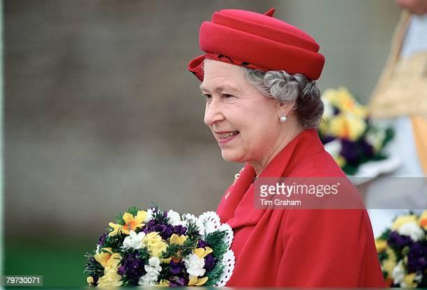Queen Elizabeth II attends Maundy Service in Wells Somerset