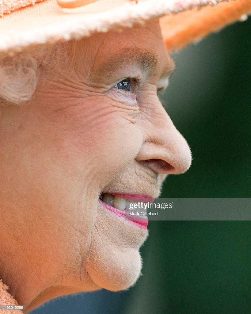 Queen Elizabeth II attends Qipco Champions Day at Ascot Racecourse on October 17, 2015 in Ascot, England.