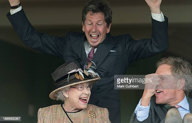 Queen Elizabeth II attends The Dubai Duty Free Raceday at Newbury Racecourse where she watched her horse 'Sign Manual' win Race 5 'The Dreweatts...