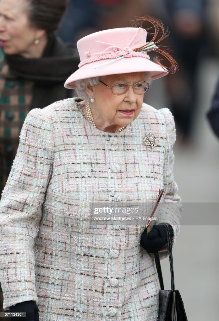 Queen Elizabeth II attends the Dubai Duty Free Spring Trials and Beer Festival at Newbury Racecourse in Newbury, on her 91st birthday.