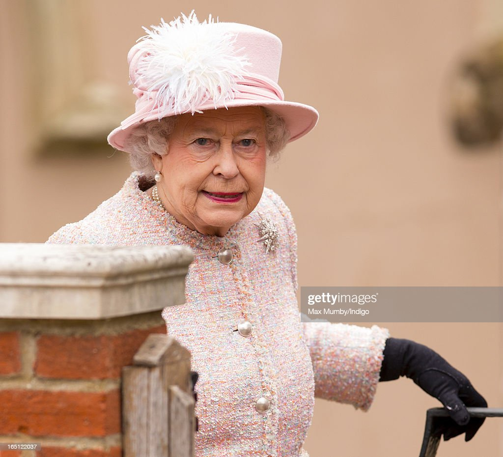 Queen Elizabeth II attends the Easter Matins Church Service at St George's Chapel, Windsor Castle on March 31, 2013 in Windsor, England.