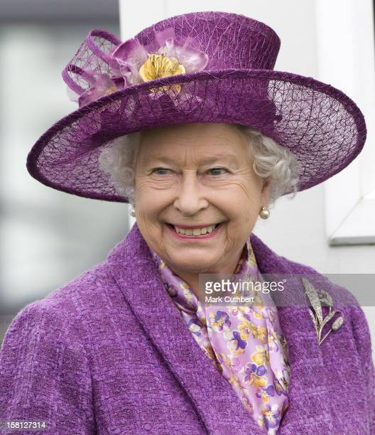 Queen Elizabeth Ii Attends The Eton Boys Tea Party At Guards Polo Club In Windsor