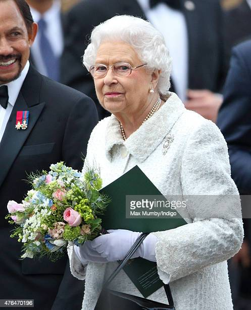 Queen Elizabeth II attends the Gurkha 200 Pageant at the Royal Hospital Chelsea on June 9 2015 in London England