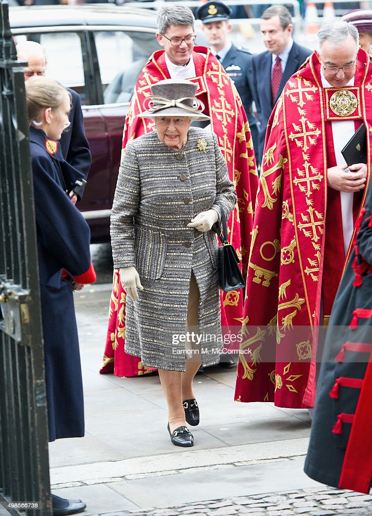 Queen Elizabeth II attends the Inauguration Of The Tenth General Synod at Westminster Abbey on November 24, 2015 in London, England.